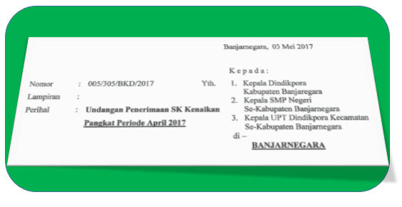 UNDANGAN PENERIMAAN SK KENAIKAN PANGKAT PERIODE APRIL 2017