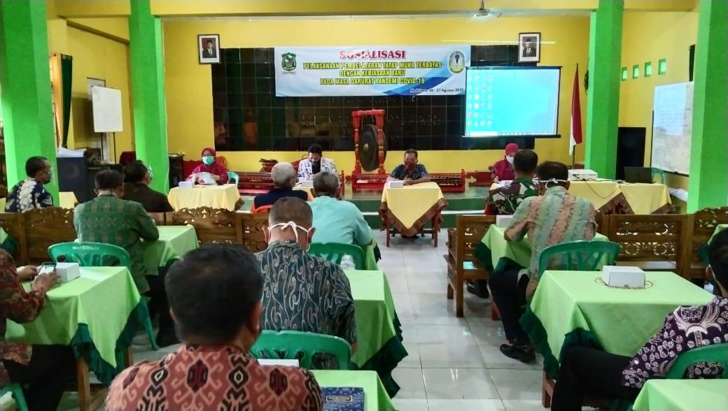 Pemkab Banjarnegara Siapkan Ujicoba Pembelajaran Tatap Muka Terbatas di SMPN 1 Madukara
